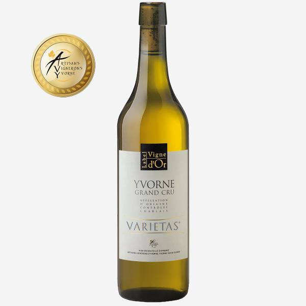 """Yvorne Label Vigne d'Or """"Varietas"""" Elevé en fût de chêne Chablais AOC"""