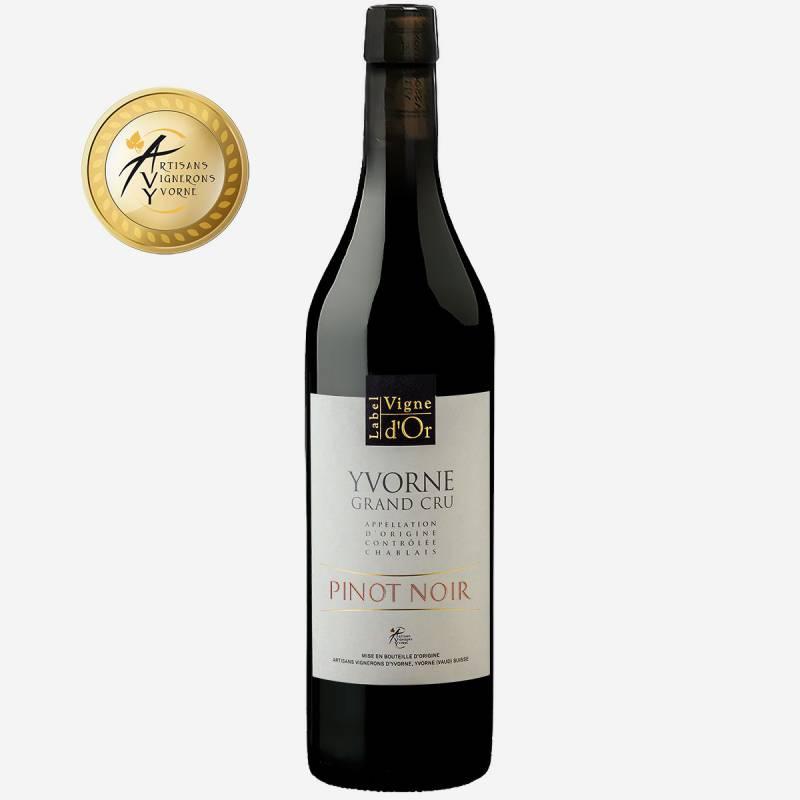 """Yvorne Label Vigne d'Or """"Pinot Noir"""" Elevé en Fût de Chêne Chablais AOC"""